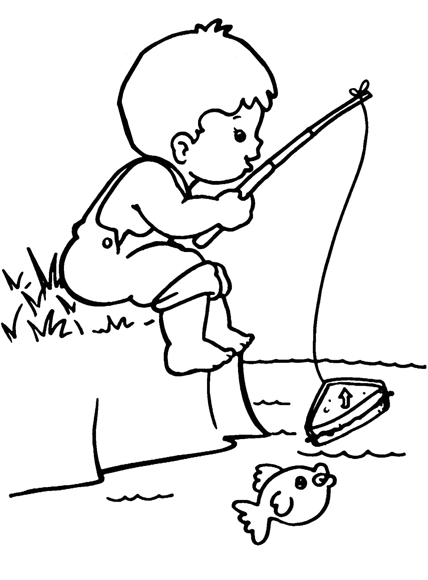 1478x2000 Fishermen Fishing Coloring Pages