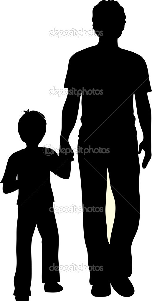516x1023 Boy And Dad Clipart