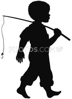 236x325 Boy Fishing Silhouette 2