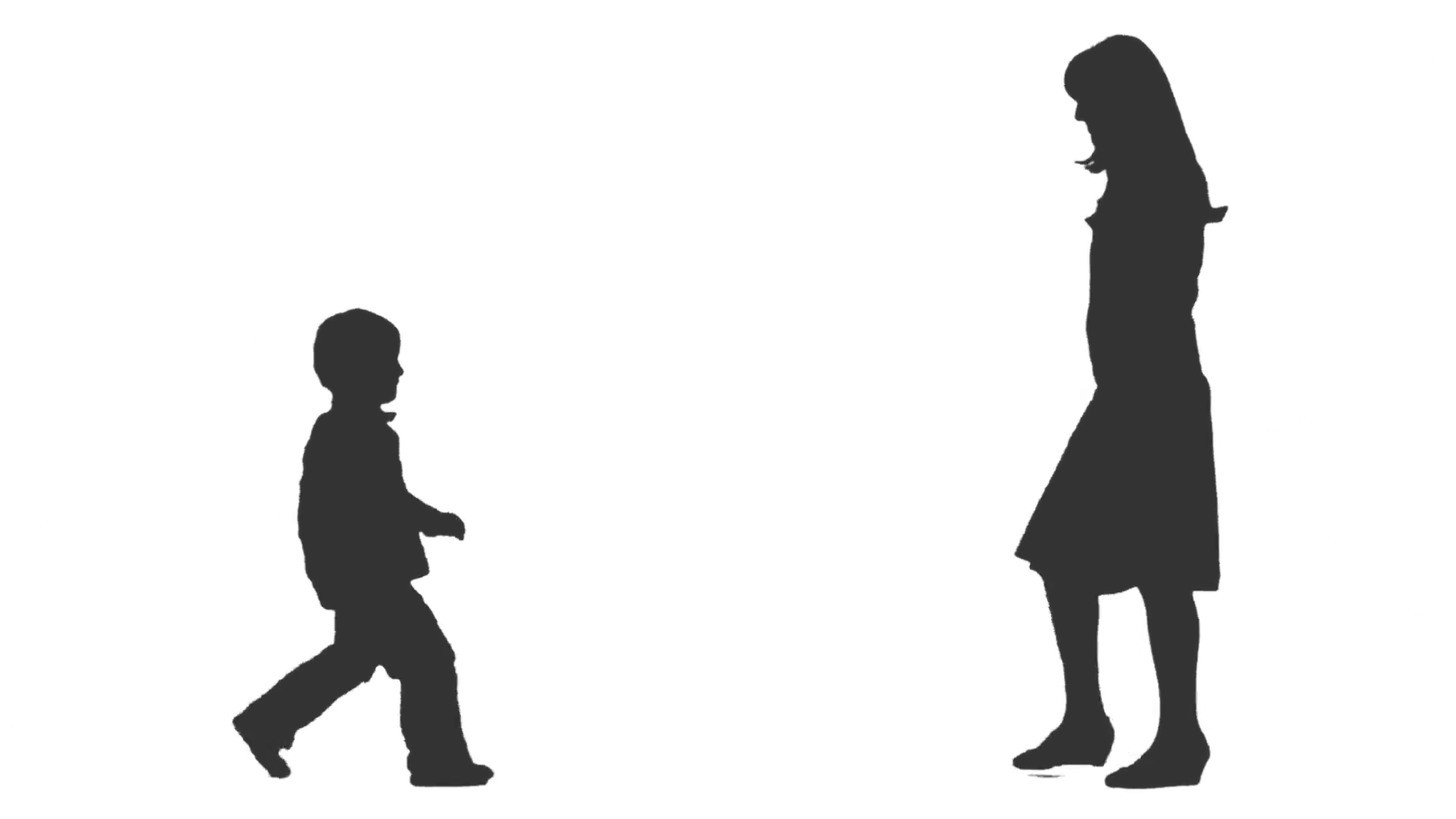 1920x1080 Silhouette Of A Little Boy Amp His Mom Going To Meet Each Other