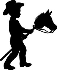 192x237 Little Cowboy Child Silhouette Die Cut For Scrap Booking Or Card