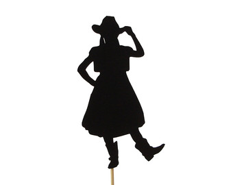 340x270 Silhouette Cake Topper Cowboy Cowgirl Cake Topper Western