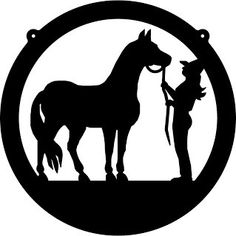236x236 Tinkerbell Silhouette Cowboy, Cowgirl, And Horse Circle