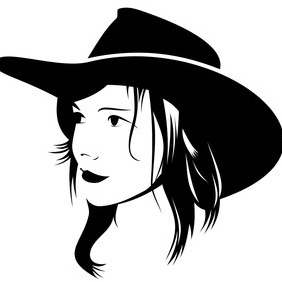 282x282 Cowgirl Silhouette Vectors Free Vector Download 329693 Cannypic