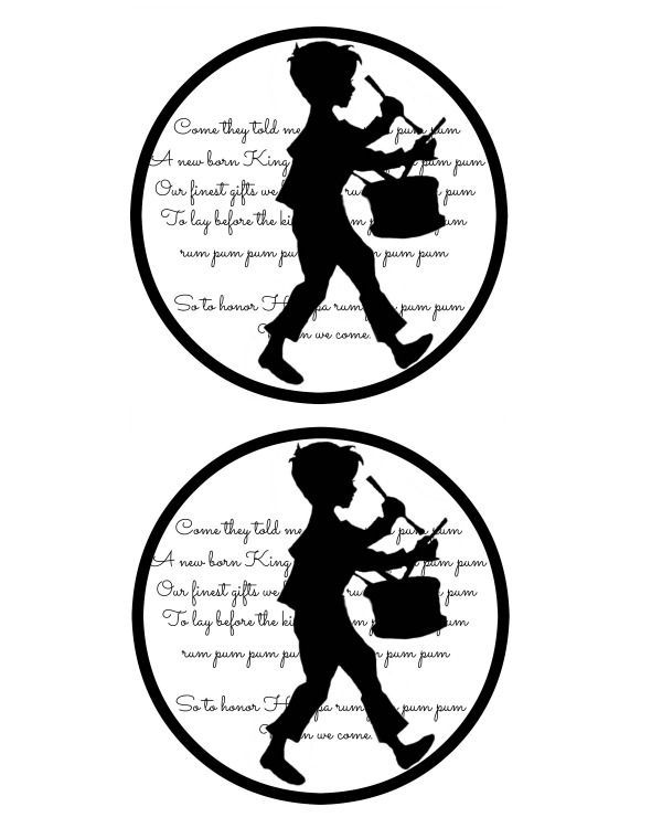 600x750 Little Drummer Boy Gift Tagbloggers Best 12 Days Of Christmas