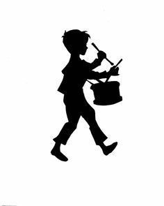 236x295 Black Silhouette Little Drummer Boy Little Drummer Boy + Black