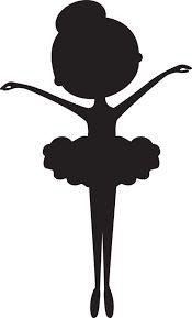 Little Girl Ballerina Silhouette