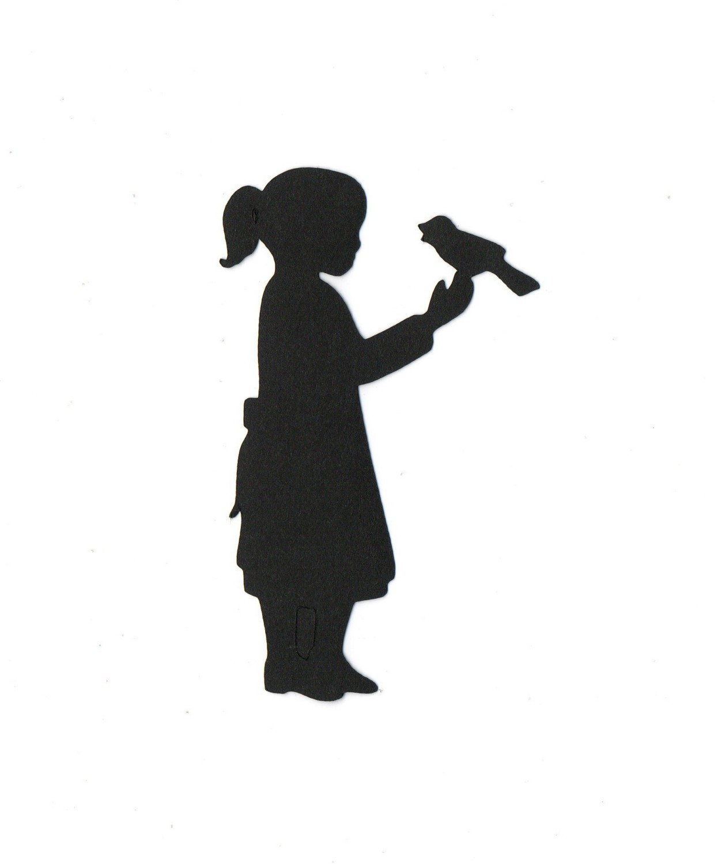 1246x1500 Little Girl Silhouette Group