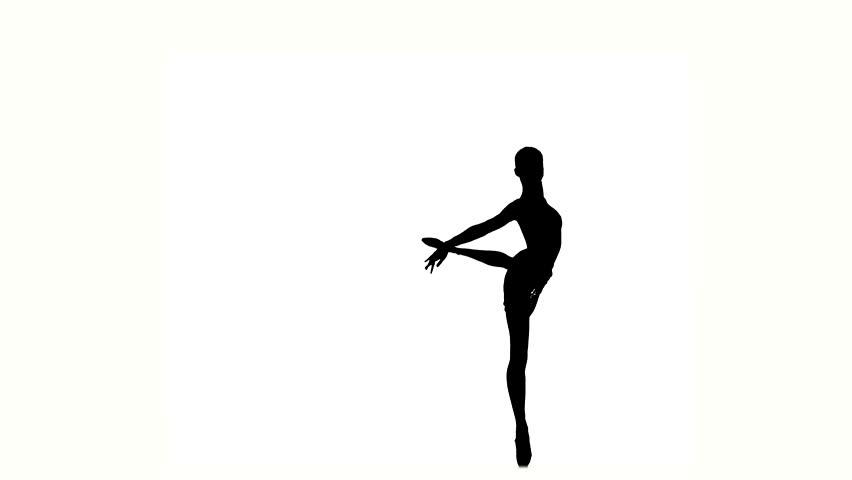 852x480 Young Girl Dancer, Little Ballerina Posing On A White Background