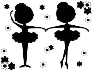 300x232 Ballerina Silhouette Latest Ballerina Black Silhouette Floral