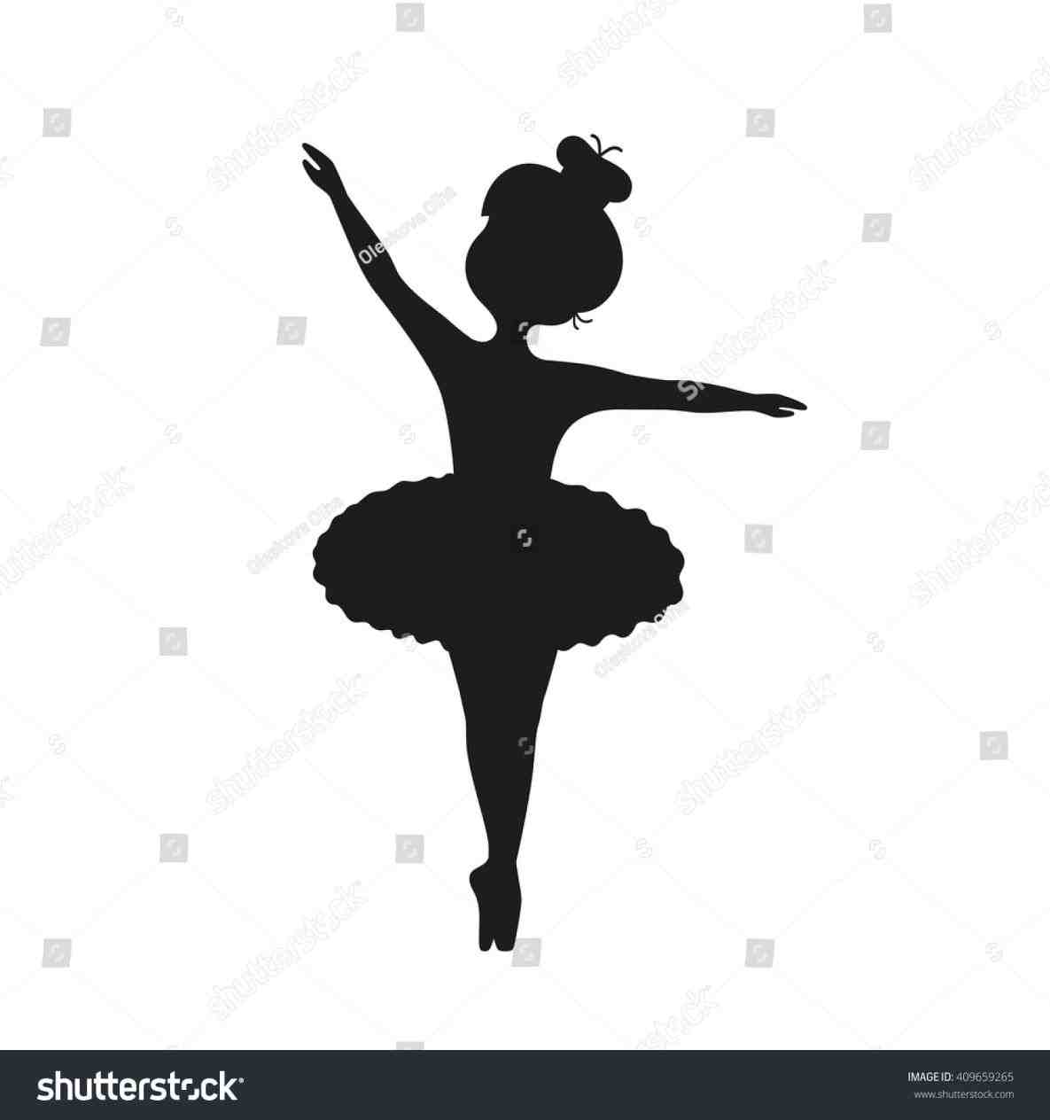 little girl ballerina silhouette at getdrawings com free for