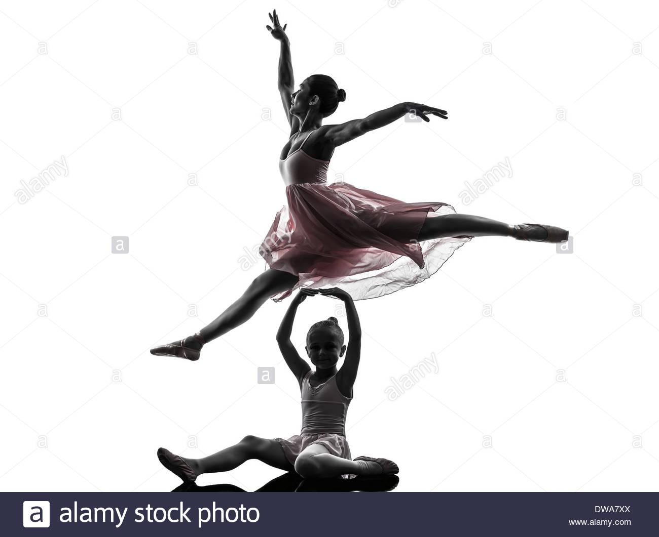1300x1061 Woman And Little Girl Ballerina Ballet Dancer Dancing