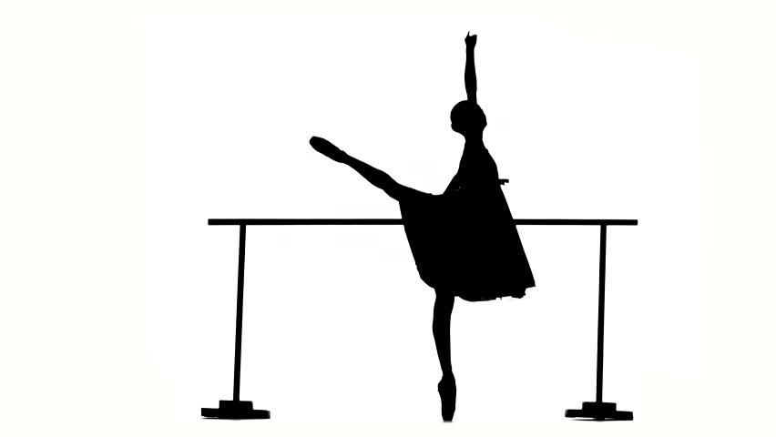 852x480 Beautiful Expressive Bellet Dancer Dancing At Studio. Pretty