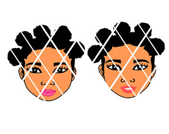 340x270 Bantu Knots Svgafro Puffs Svgdxfpng Blowing Bubble Svg