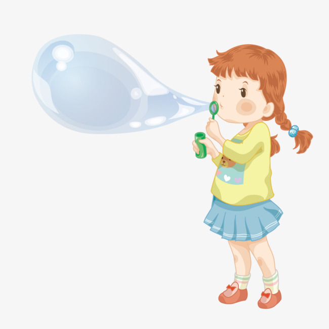 650x651 Girl Blowing Bubbles, Illustration, Creative, Girl Png And Vector