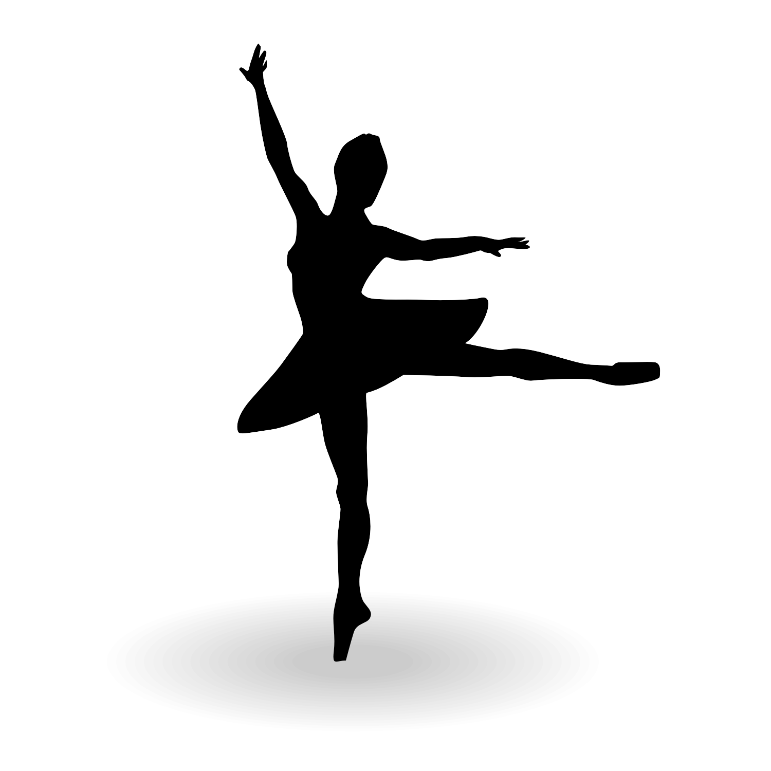 Little Girl Dancing Silhouette