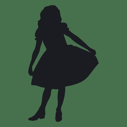 512x512 Little Girl Dancing Silhouete
