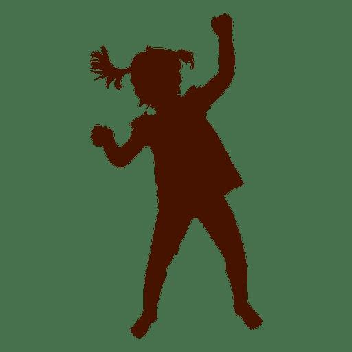 512x512 Little Girl Dancing Silhouette