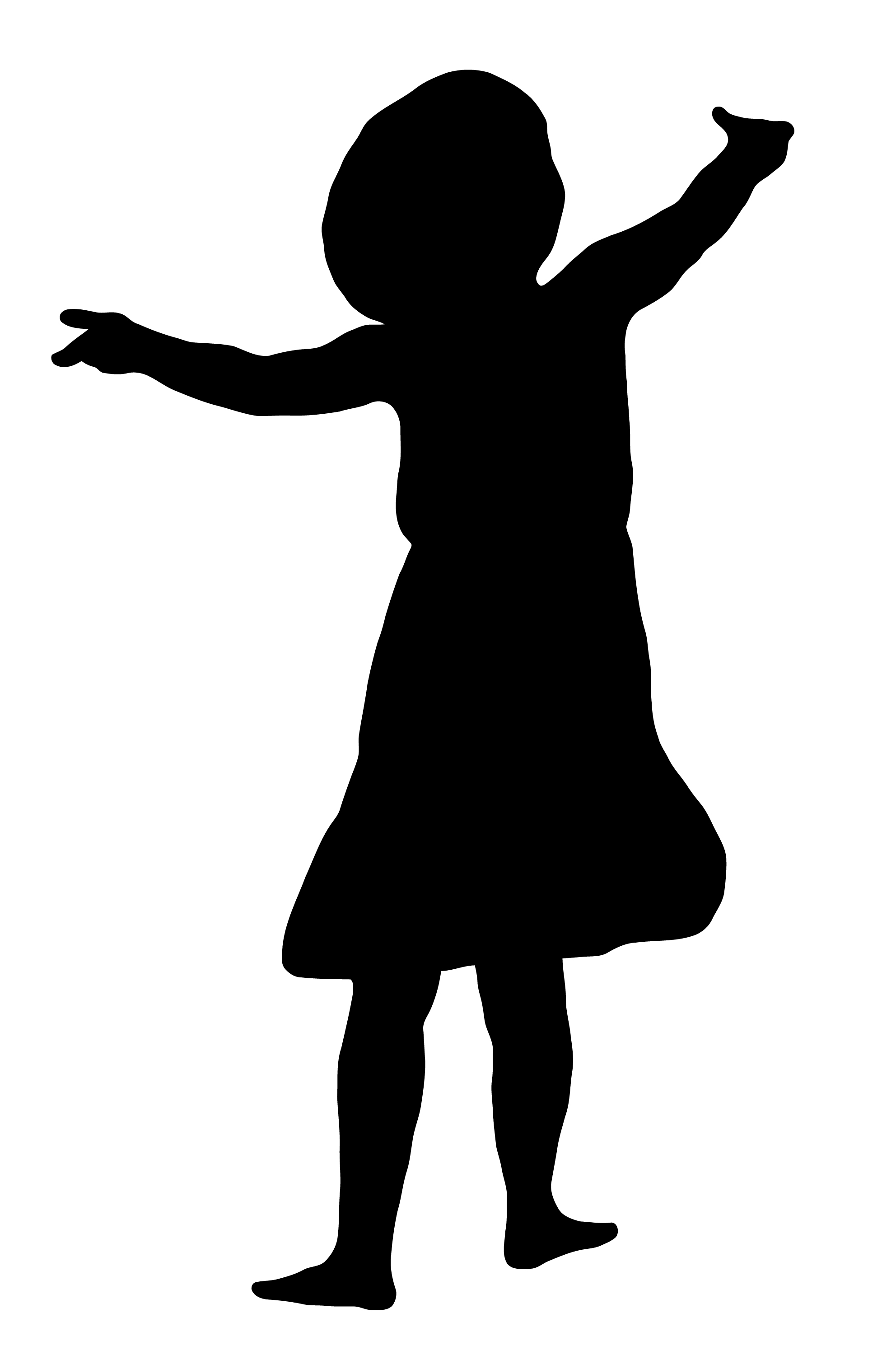 1984x3000 Young Girl In Dress Silhouette