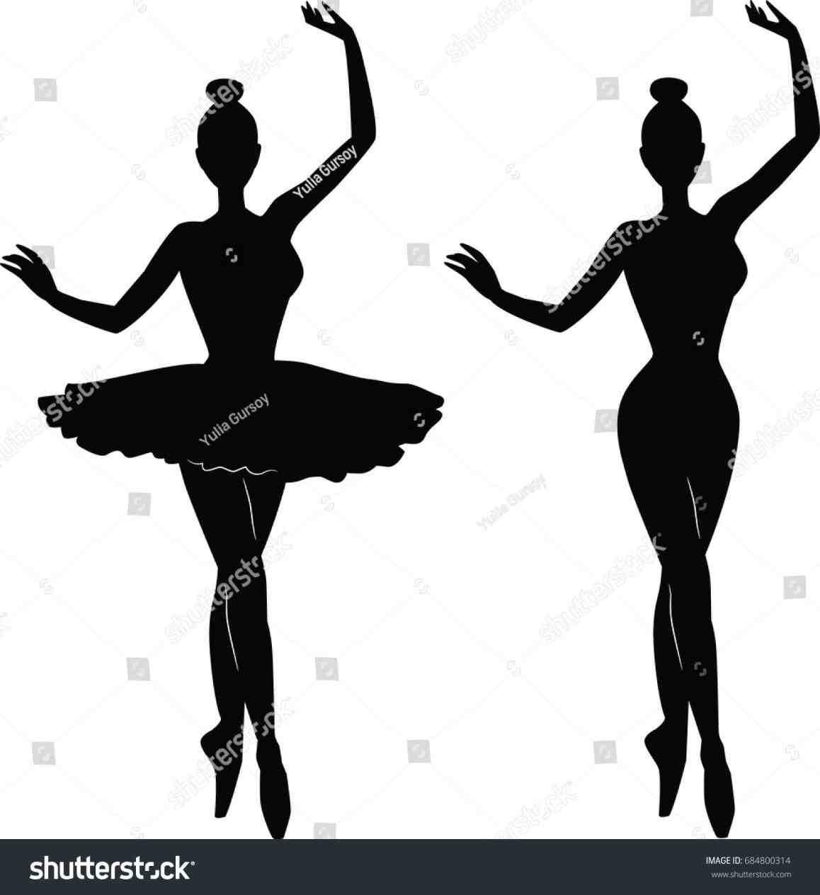 1158x1264 Ballet Silhouette Little Girl