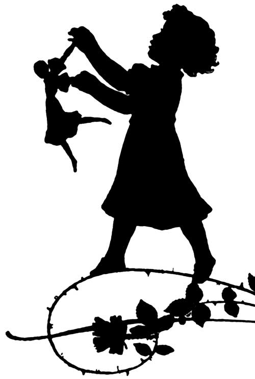 500x741 Girl Dancing Silhouette