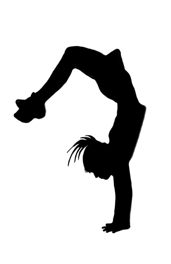 574x886 Gymnast Clipart Handstand