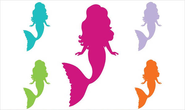 600x358 Mermaid Silhouettes