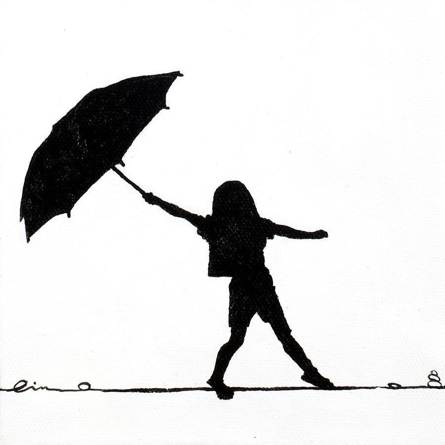 900x900 Little Girl Silhouette