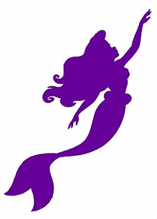 322x450 Ariel The Little Mermaid 6 Purple Vinyl Car Truck
