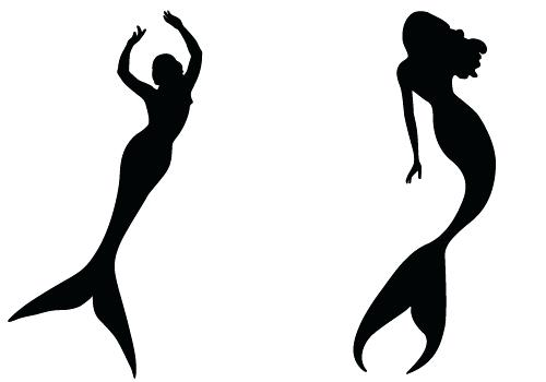 500x350 Mermaid Silhouette Dreamyart Little Mermaid Silhouette Painting