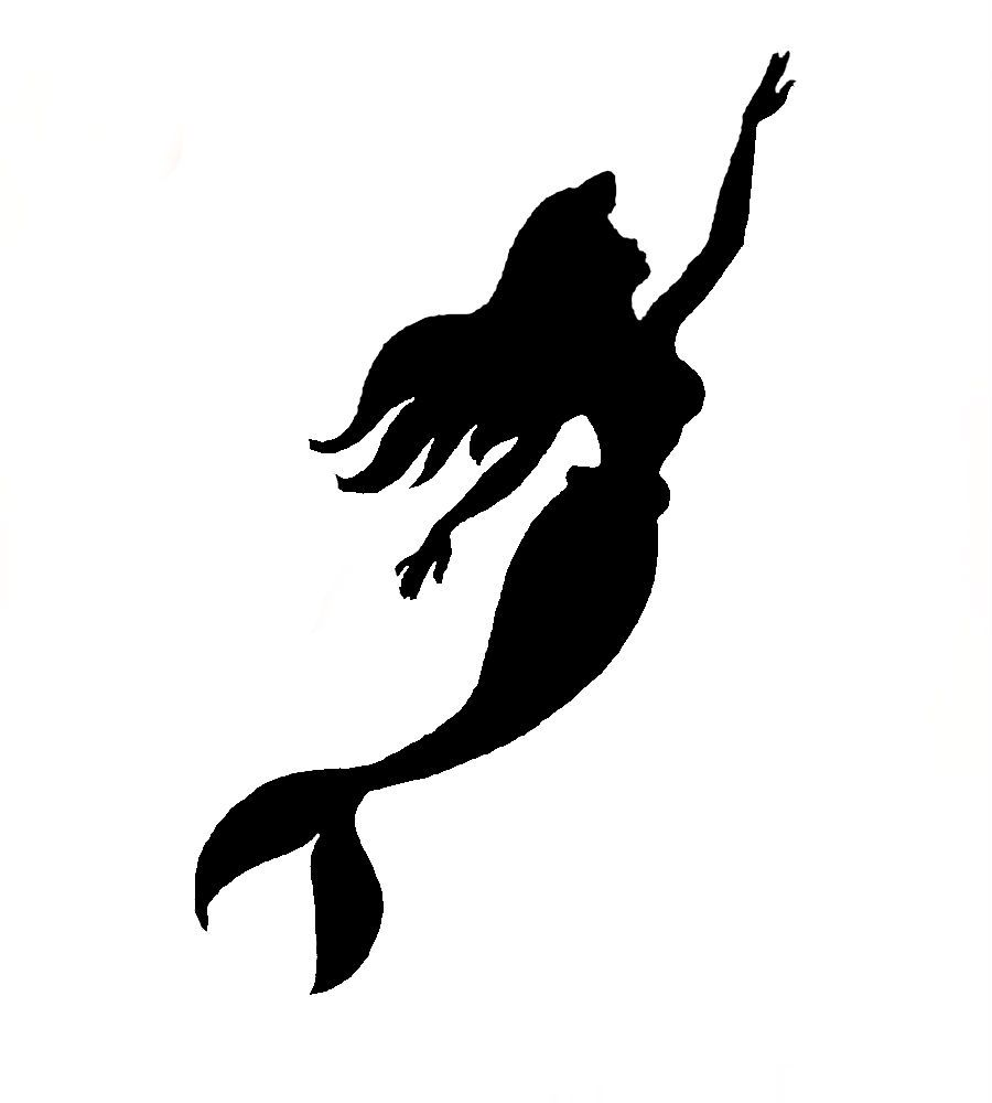 900x1000 Mermaid Stencil By Ninonish D5eivh5.jpg Disney