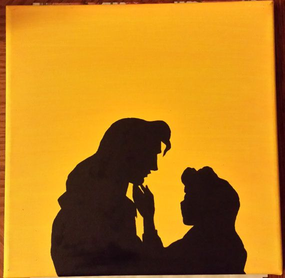 570x556 Beauty Amp The Beast Silhouette Disney Princess Belle Handmade