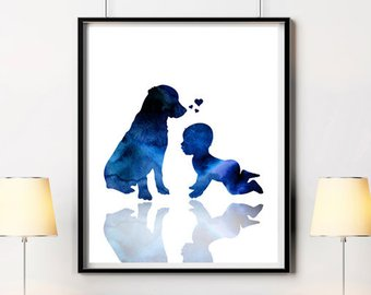 340x270 Baby Silhouette Etsy