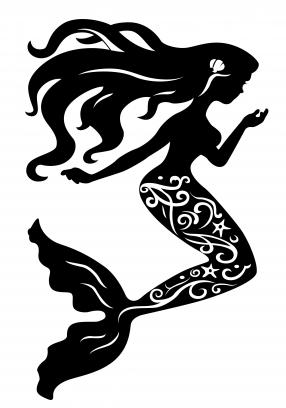 286x408 Mermaid Silhouette Free Vector Silhouette Designs