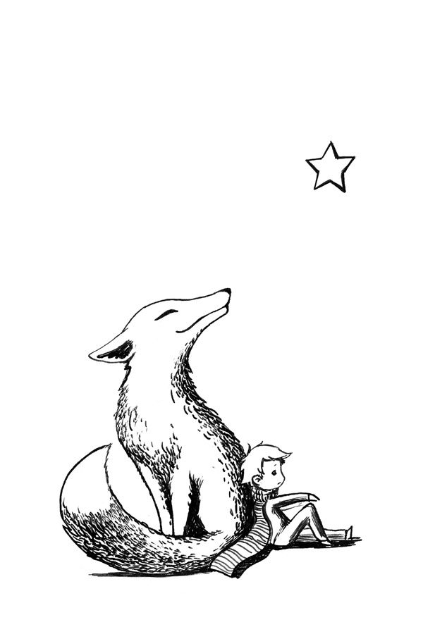 600x900 The Little Prince Fox Drawing