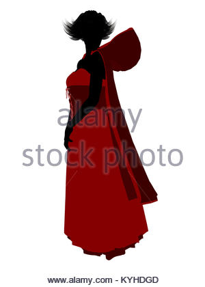 300x420 Little Red Riding Hood Silhouette Illustration Stock Photo