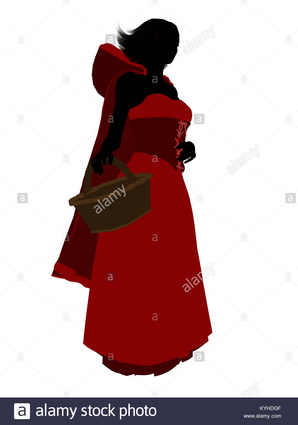 975x1390 Little Red Riding Hood Illustration Silhouette On A White