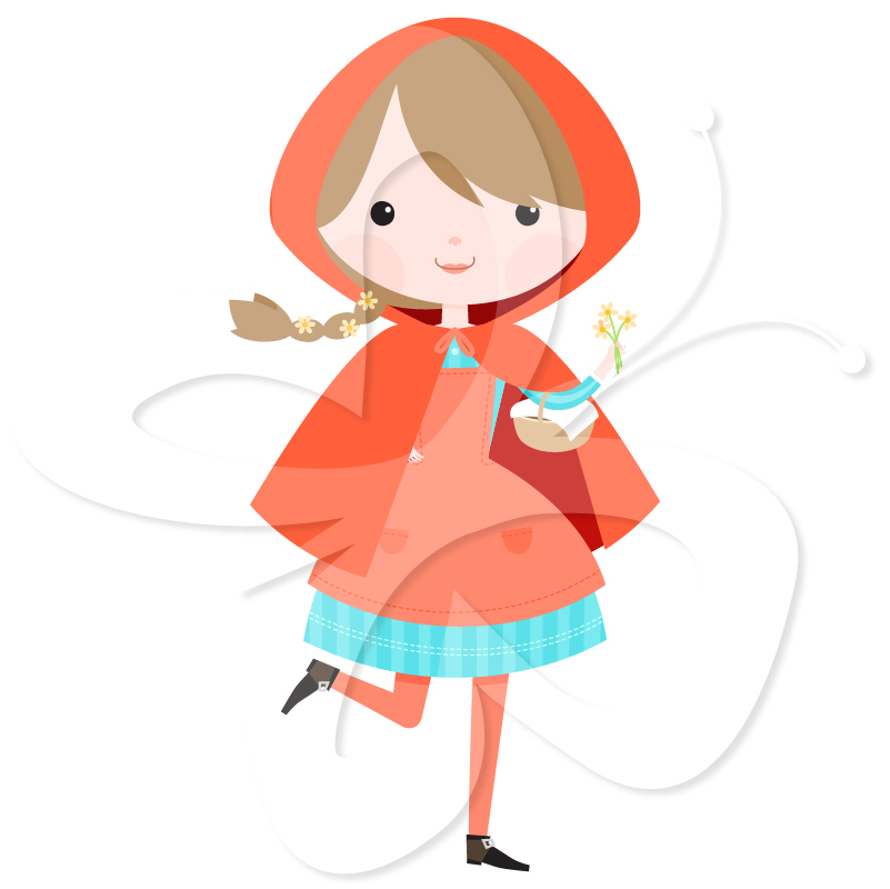 801x800 Red Riding Hood Cape Clipart