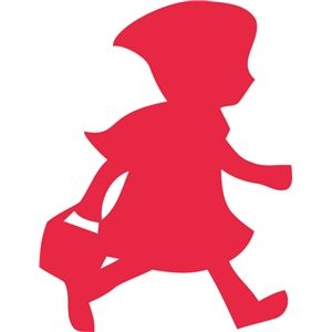 300x300 Silhouette Design Store Little Red Riding Hood Red Work