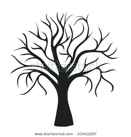 450x470 Oak Tree Silhouette Oak Tree Pictogram Black Silhouette And Oak