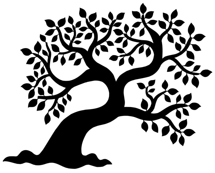 700x564 Leafy Tree Silhouette Wall Decal We Live To Change