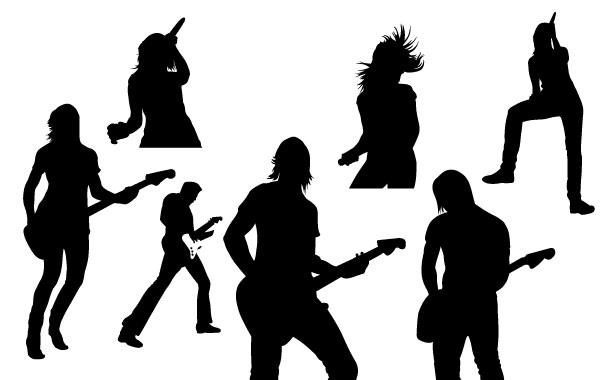 600x380 Live Music Vector Silhouettes
