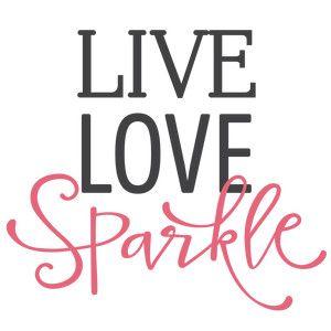 300x300 Live Love Sparkle Phrase Silhouette Design, Silhouette And Shop