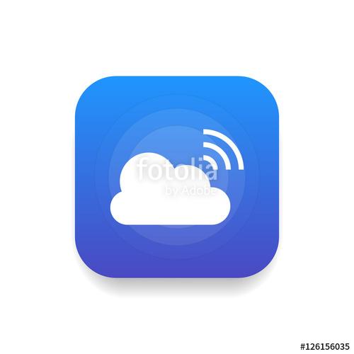 500x500 Broadcast Icon Vector, Clip Art. Live Stream Cloud Computing. Also