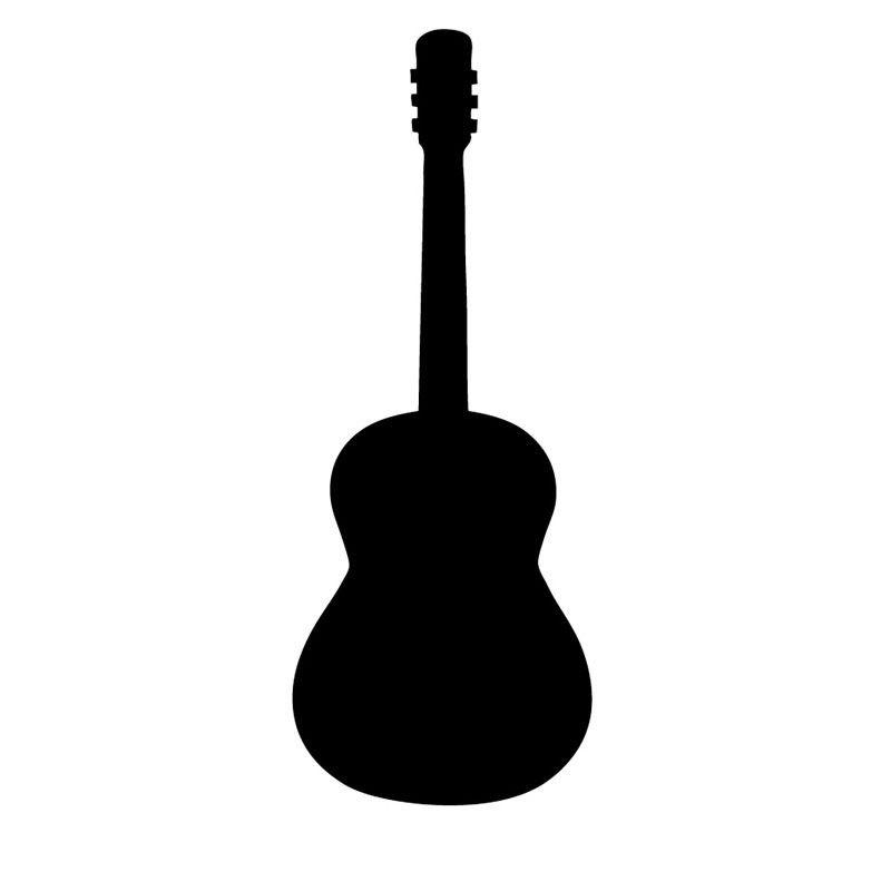 800x800 Simple Design Musical Instrument Guitar Silhouette Wall Sticker