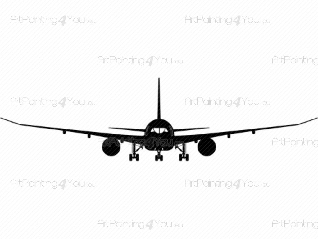 1024x768 Wall Decals Airplane Silhouette (Vdv1034en)