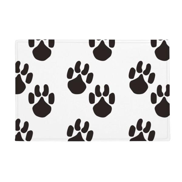 600x600 Animal Cute Paw Print Silhouette Footprint Anti Slip Floor Mat