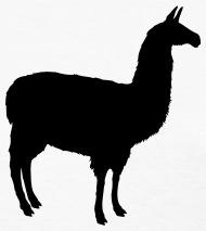 190x213 Llama Silhouette (Realistic) By Azza1070 Spreadshirt