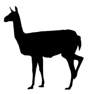 316x330 Llama Silhouette Decal Sticker
