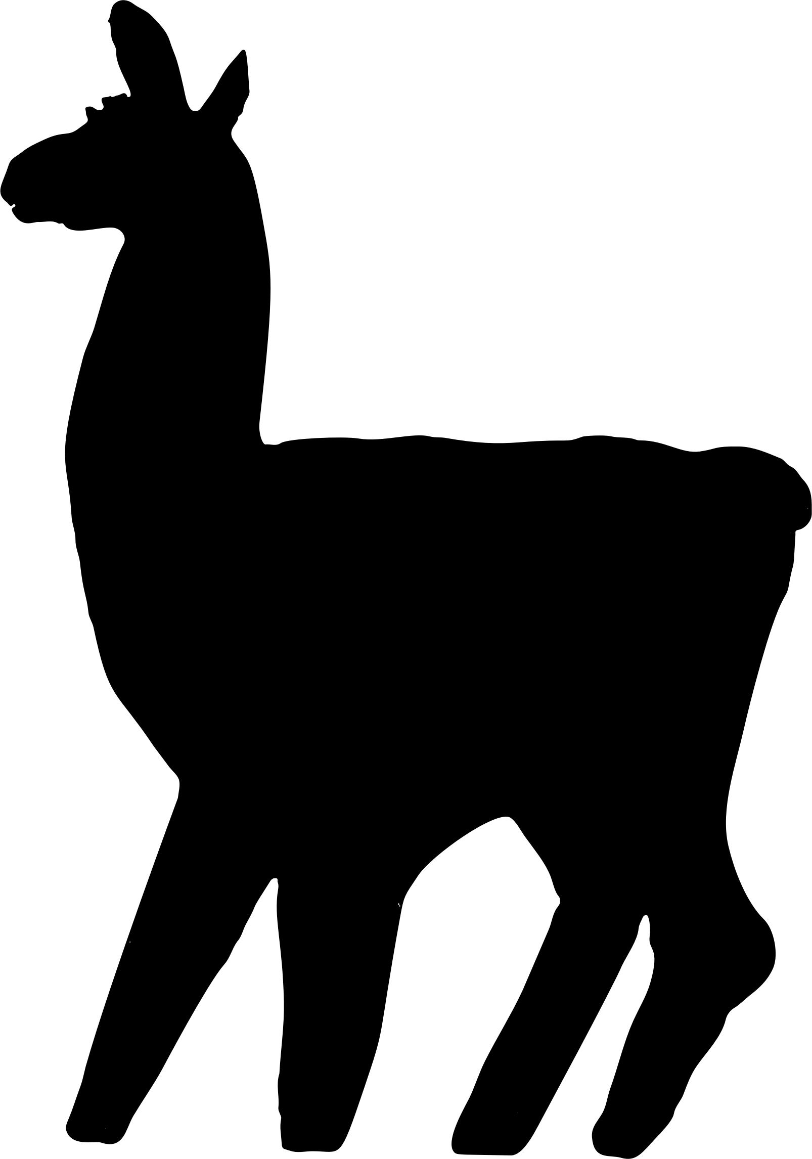 1606x2292 Llama Silhouette Icons Png